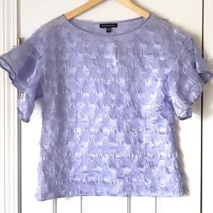 NWT Banana republic lavender ruffle sleeve top